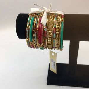 AMRITA SINGH multi colored 18 pieces bracelets NEW